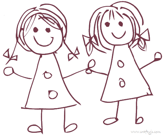 Hai Friends Kids Drawing Images